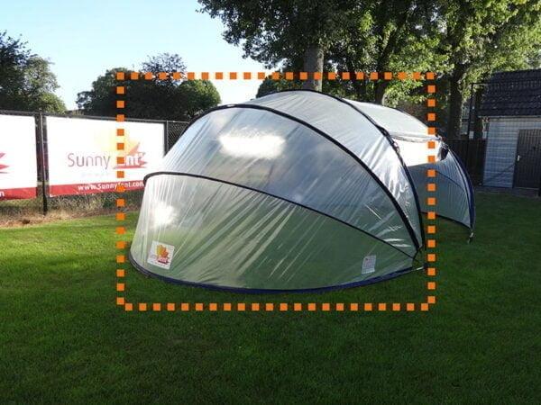 Płótno końcowej sekcji namiotu owalnego SunnyTent M