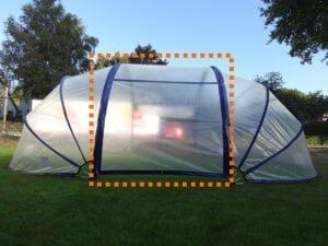 Tälttyg för mittensektionen för SunnyTent Oval L