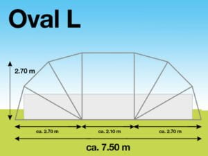 SunnyTent Oval L
