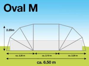 SunnyTent Oval M