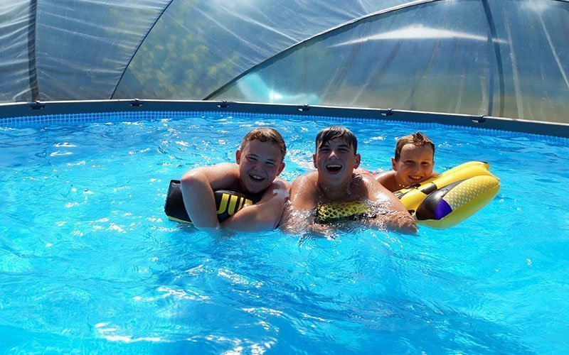 Water besparen met de zwembadkoepel van SunnyTent