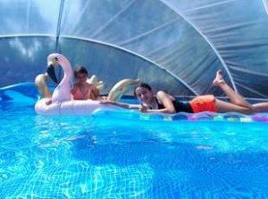 SunnyTent warm water