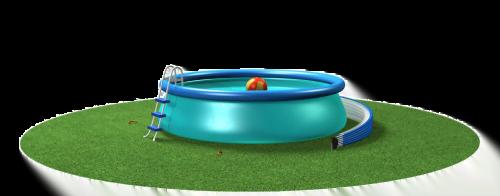 Das SunnyTent als Poolkuppel